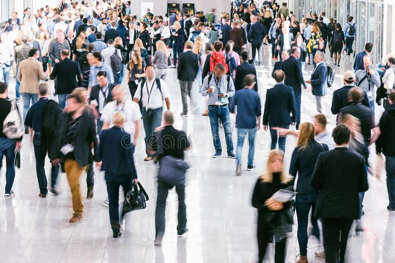 Large crowd of Blurred business people royalty free stock photos
