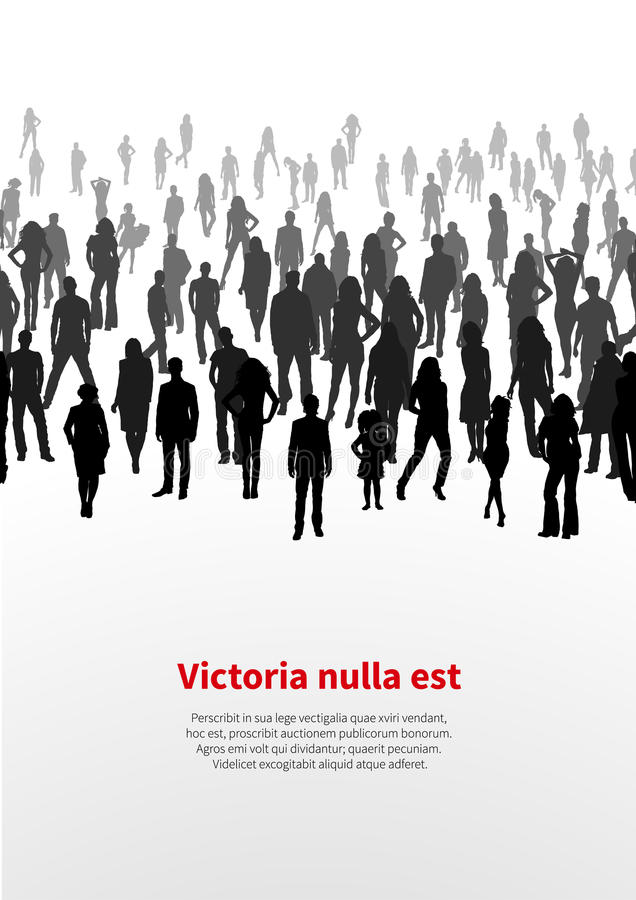 Large crowd of people. vector background stock illustration