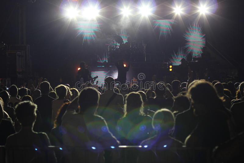 Download Large Crowd At A Rock Concert Stock Image - Image: 24296833