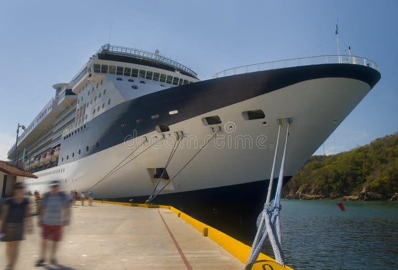 Large cruiseship. Huatulco, Mexico. Large Luxury cruiseship. Huatulco, Mexico stock photo