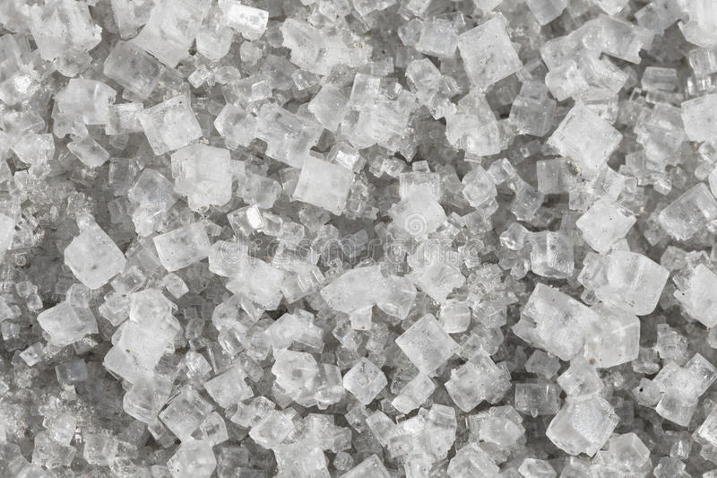 Large crystals of sodium chloride. Macro royalty free stock photo