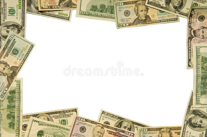 Large Denomination Currency Border stock photography