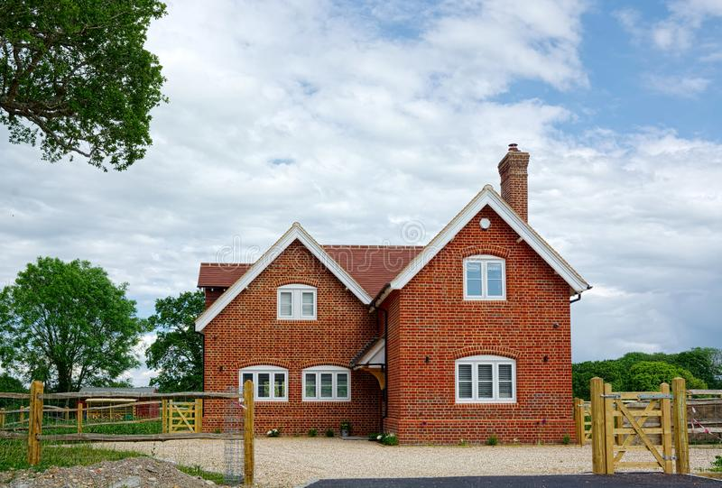 Completed New Build detached house. stock photography