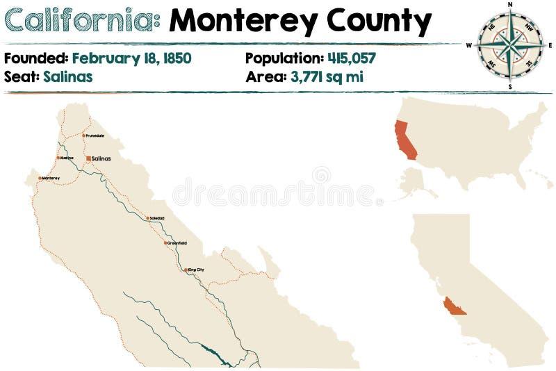 California Monterey County Stock Vector Illustration of compass