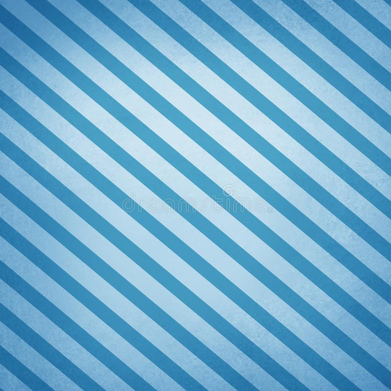 Large diagonal stripes on blue abstract background with old texture stock illustration