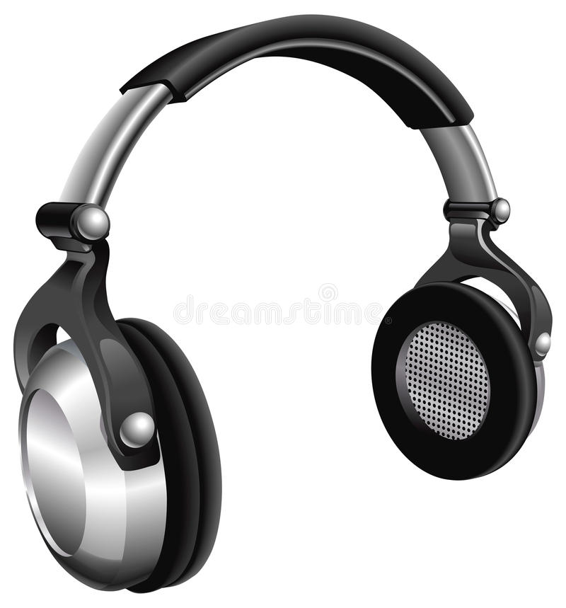 Large DJ Headphones royalty free illustration