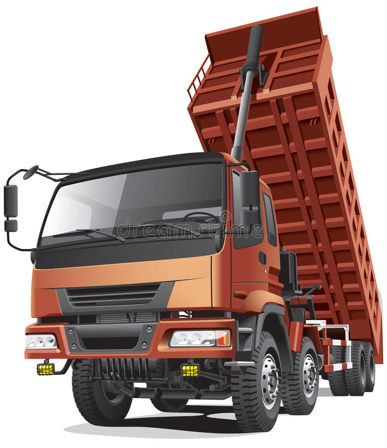 Large Dumper In Action Stock Photo