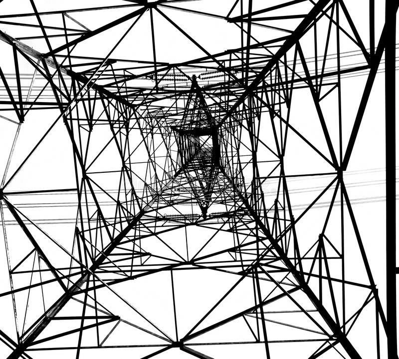 Large Electricity Powermast stock images