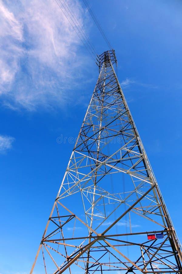 Large Electricity Pylon stock image