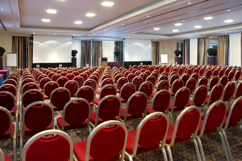 Large empty conference centre stock photography