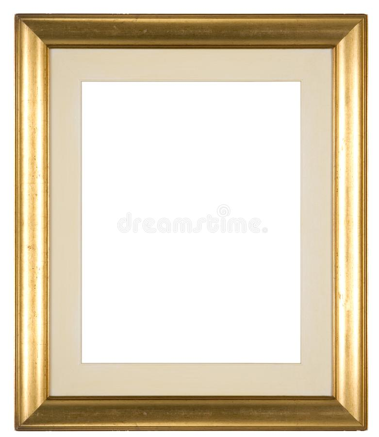 Large Empty Picture Frame With A Distressed Gold Finish Stock Image ...