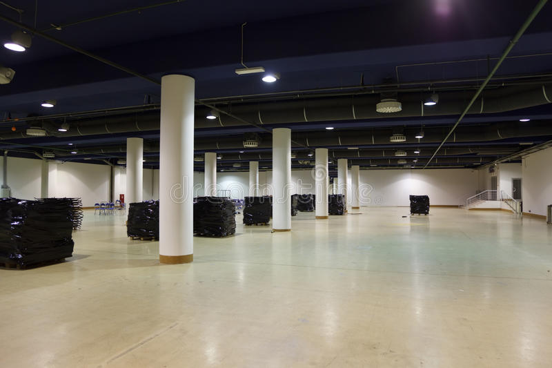 Download Large, empty warehouse. stock image. Image of distribution - 14059867