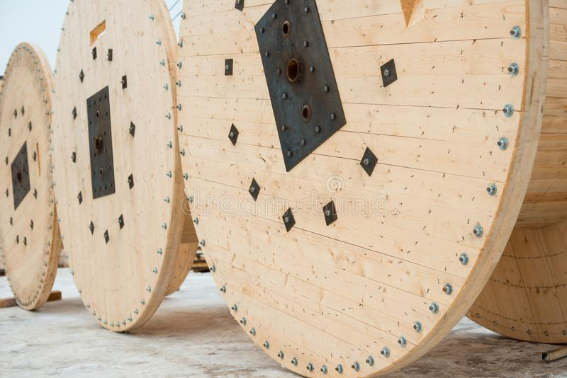 Wooden Spool For Cable Stock Image Image Of Wooden 107746391