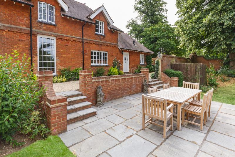 Large English house and garden stock photo