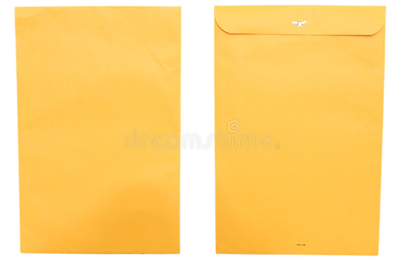Download Large Envelope Front And Back Stock Photo - Image: 3287280