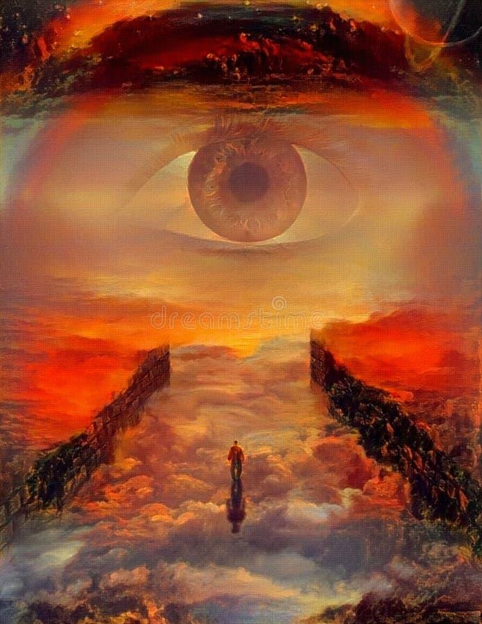 The Eye of God vector illustration