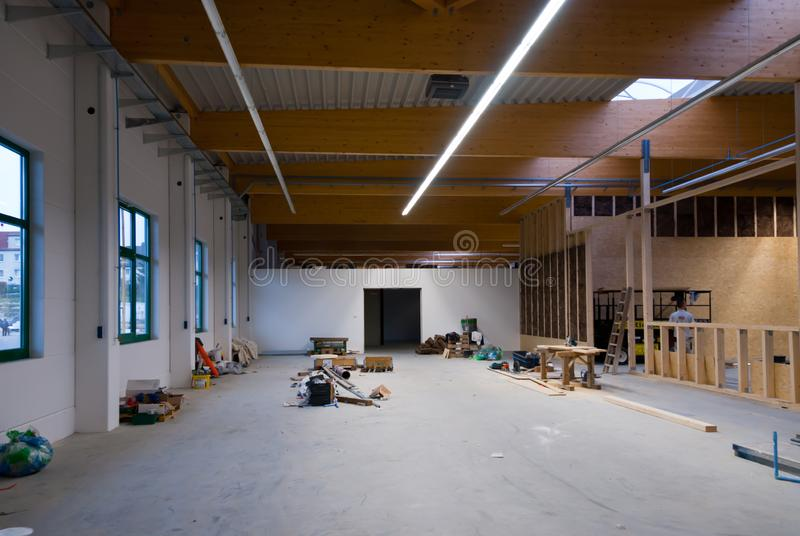 large factory building is converted into a warehouse stock images