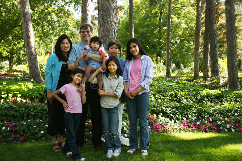 Download Large Family Of Seven Royalty Free Stock Photo - Image: 6120605