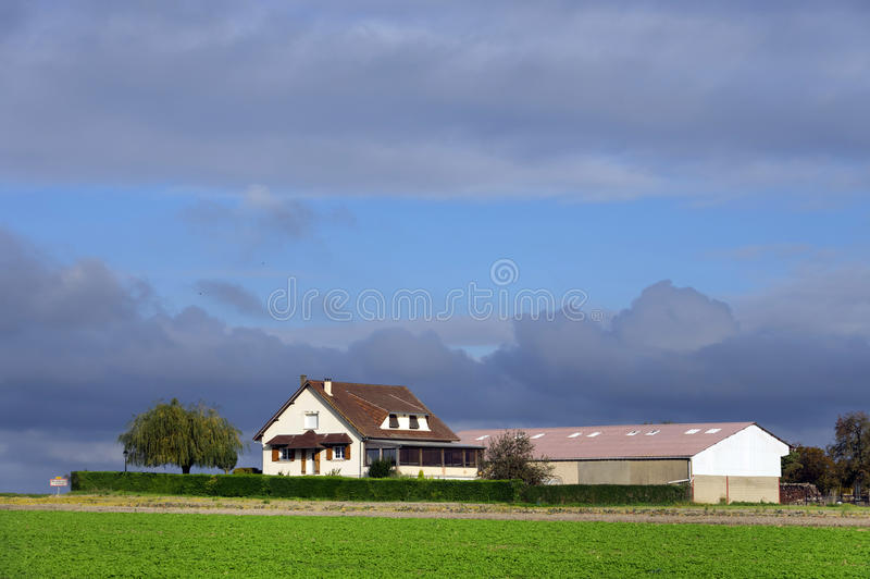 Large farm country house stock photography