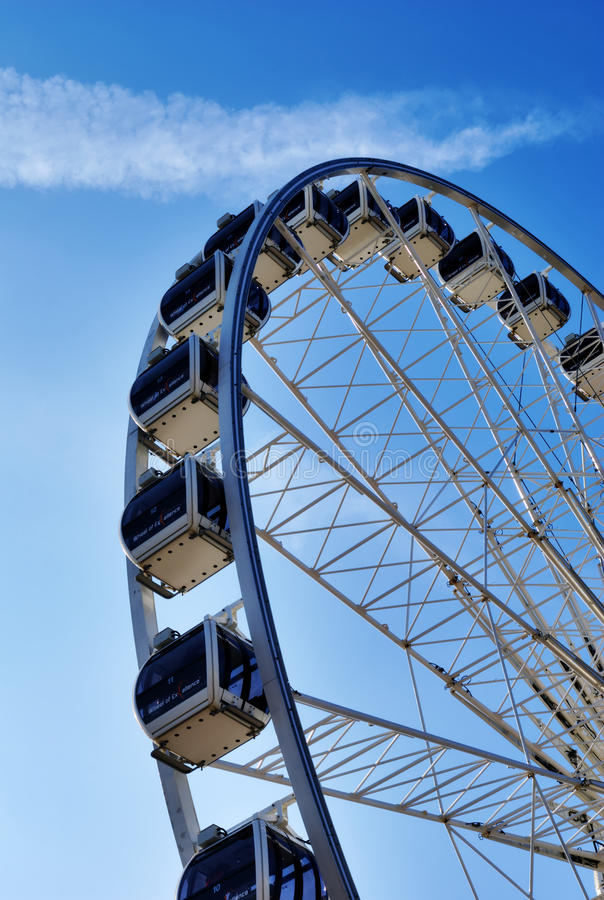 Download Large Ferris Wheel stock photo. Image of construction - 23876236