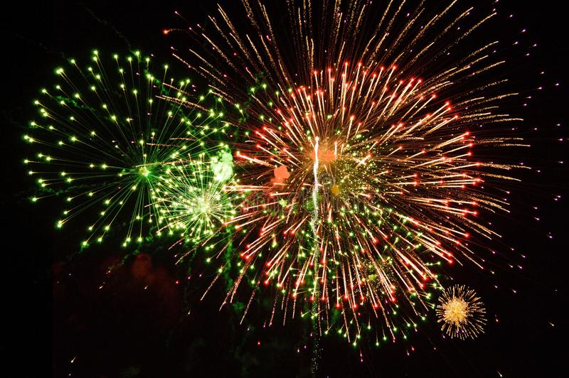 Large Fireworks Display event background. Beautiful large Fireworks Display event background royalty free stock photo