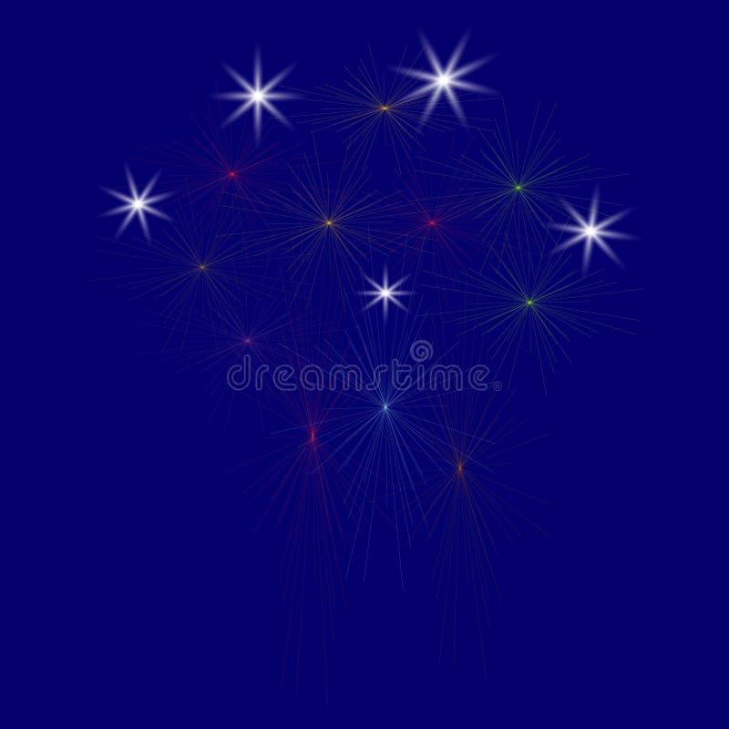 Large Fireworks Display - illustration. royalty free illustration
