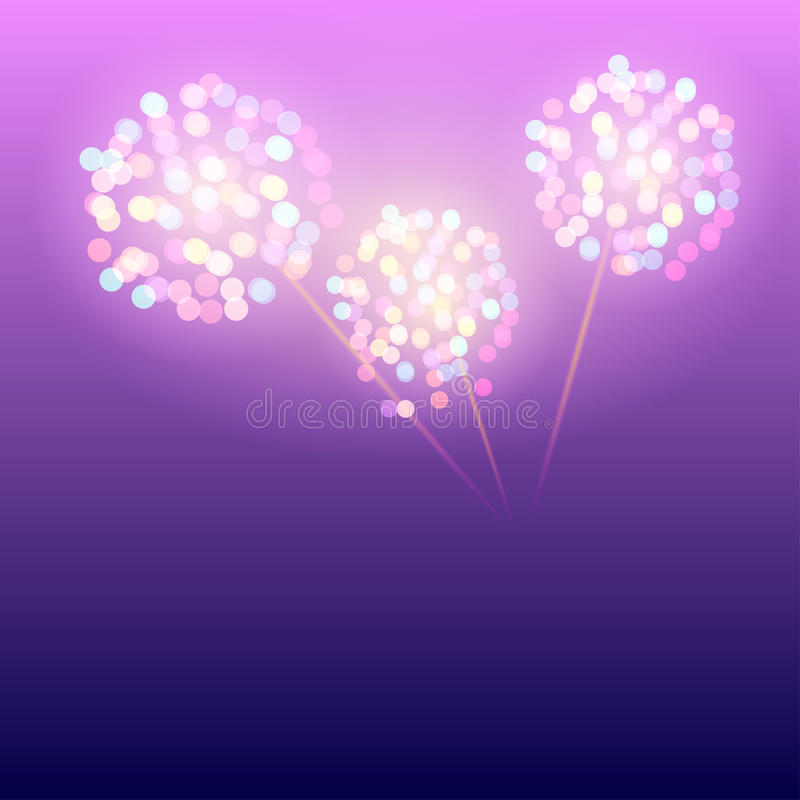 Large Fireworks Display stock illustration