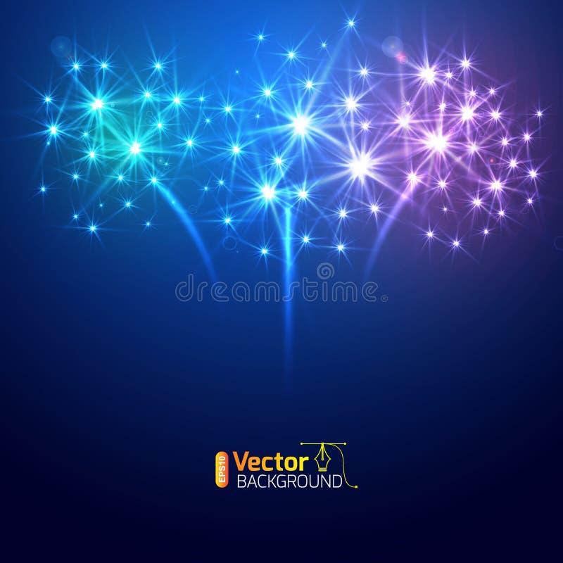 Large Fireworks Display stock illustration