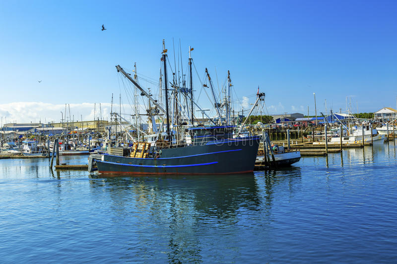Large Fishing Boat Westport Grays Harbor Washington State royalty free stock images