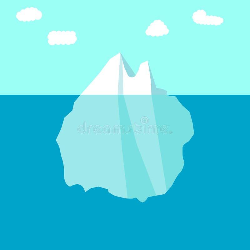 Iceberg, glacier, ice sheet. A large floating mass of iceberg or glacier or ice sheet royalty free illustration