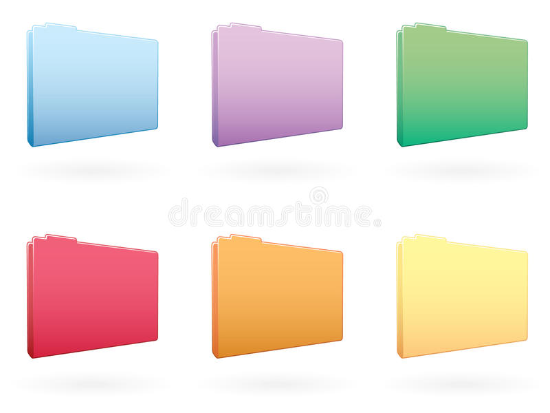 Download Large Folder Icons EPS stock vector. Image of icons, blue - 15598638