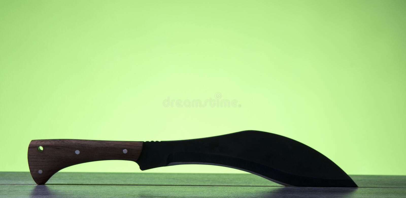Large folding knife sharp for kitchen royalty free stock photo