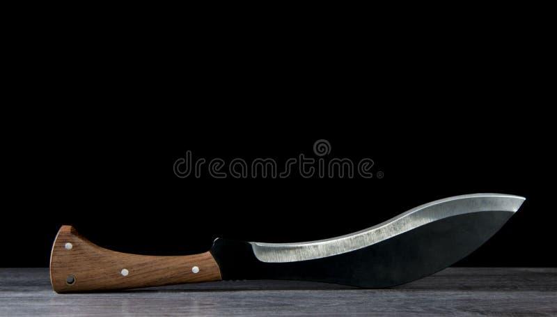 Large folding knife sharp for kitchen stock photo