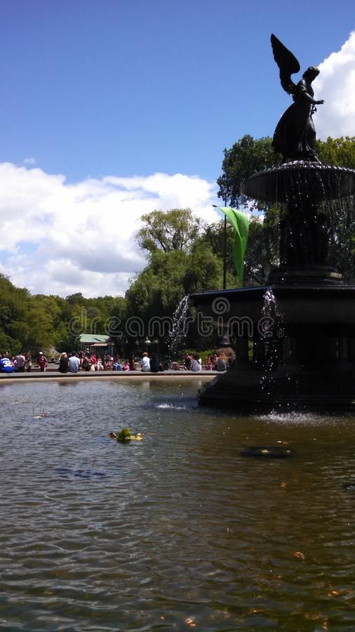 Large Fountain in a Park royalty free stock image