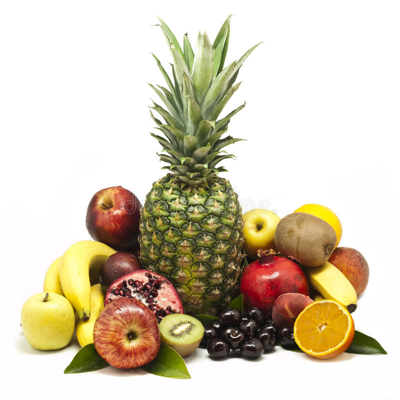 Download Large Fruit Still-life stock photo. Image of food, white - 20043440