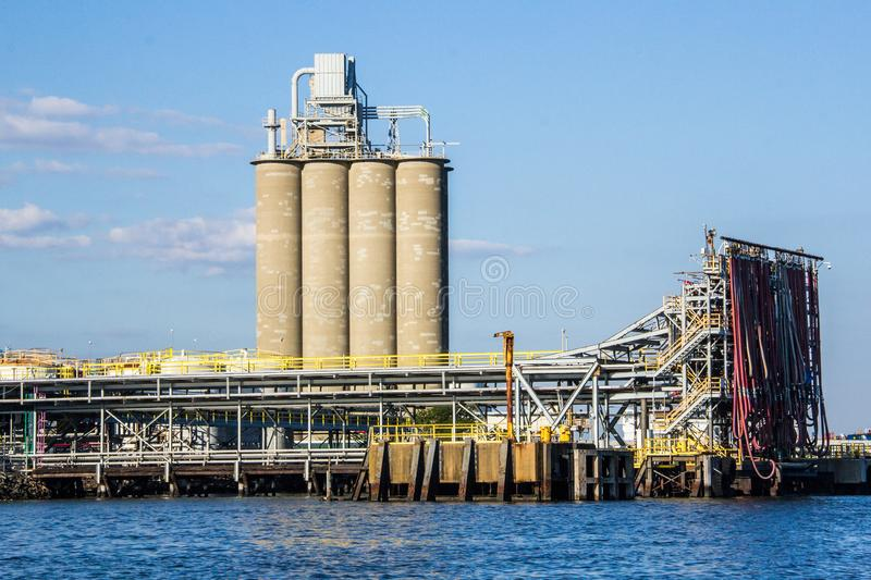 Large Fuel Pier in Arthur Kill royalty free stock image