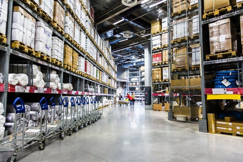 Large furniture warehouse stock photo