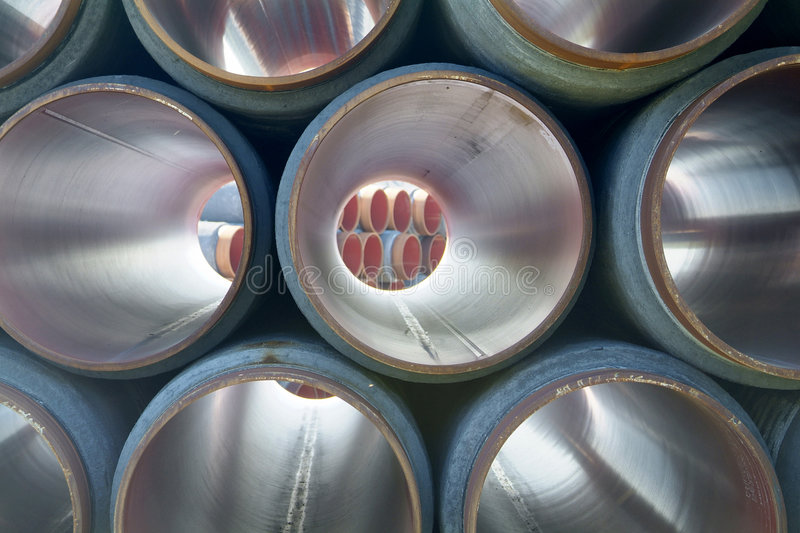 Large gas pipelines royalty free stock photo