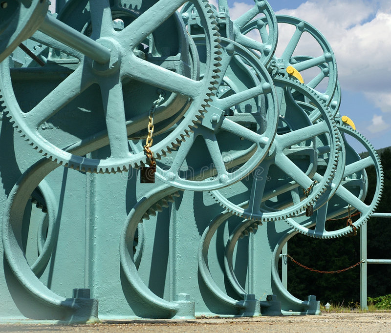 Large gears royalty free stock photography