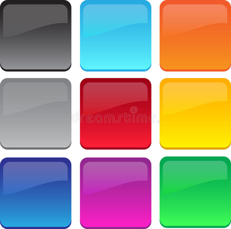 Large gel/glass buttons royalty free illustration