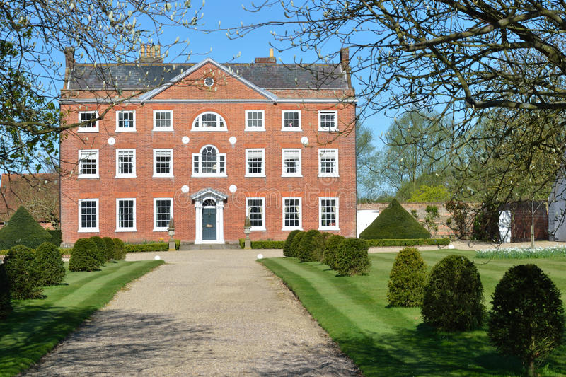 Large Georgian Town House. Large Georgian red brick Town House royalty free stock images