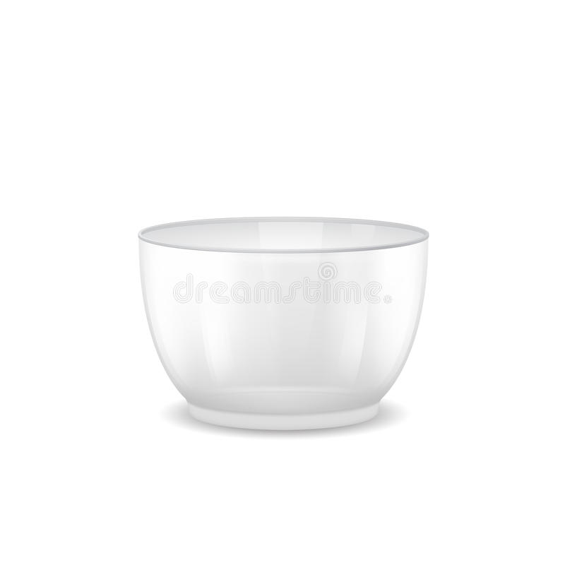 Download Large Glass Salad Bowl With A Deep-bottomed Stock Illustration - Image: 25701428
