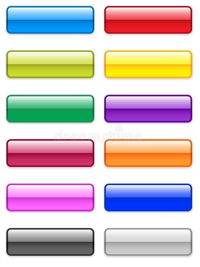 Large Glossy Buttons Stock Photo