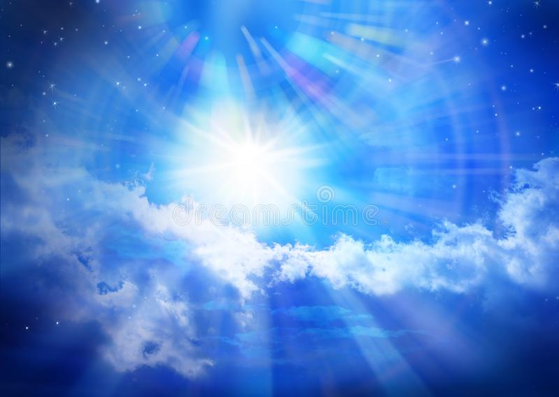 God Heaven Universe Sun Stars Sky Background royalty free stock photography