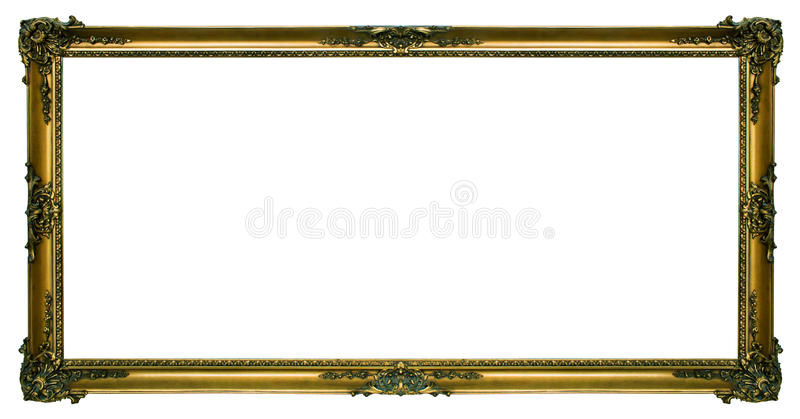 Large Gold Landscape Picture Frame Stock Image - Image of attractive ...
