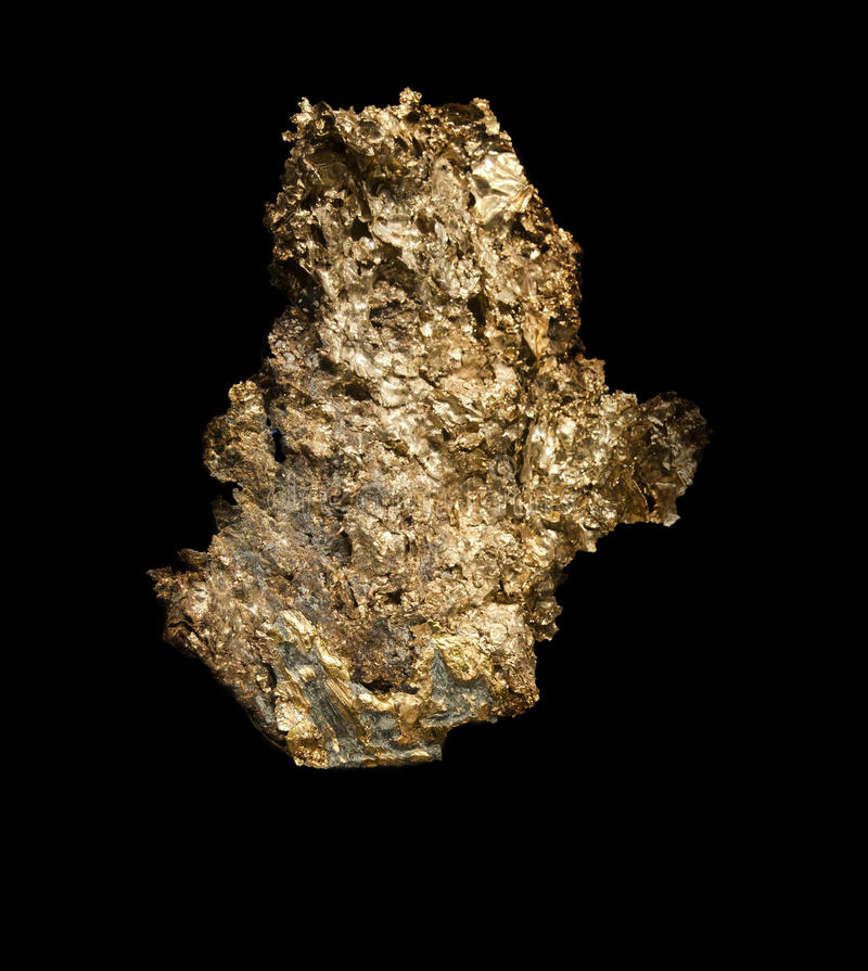 Large Gold Nugget royalty free stock photos