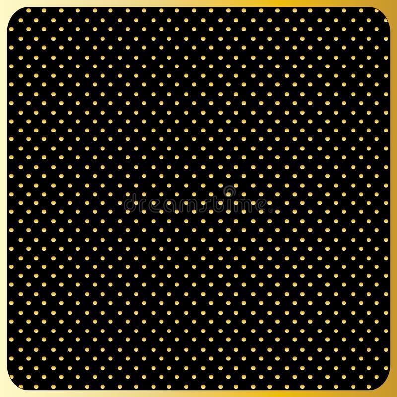 Large Gold Polka Dots, Black Background. Large Gold Polka Dots on Black Background. Seamless pattern of large gold polka dots on a black background for different stock illustration