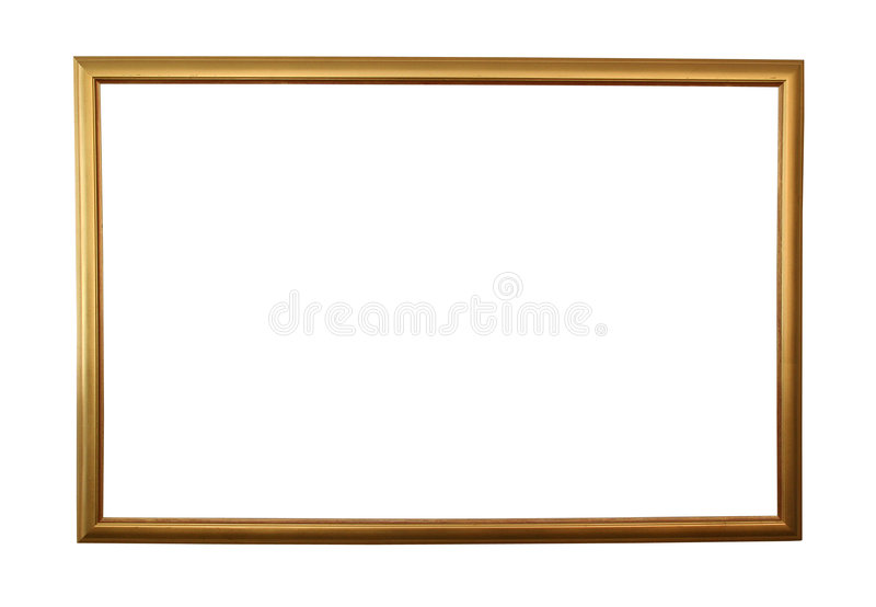 Large golden frame isolated w/ path vector illustration