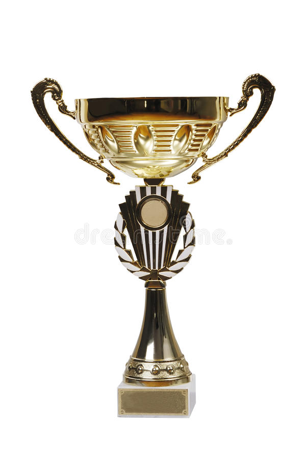 Large Golden Trophy Stock Photography