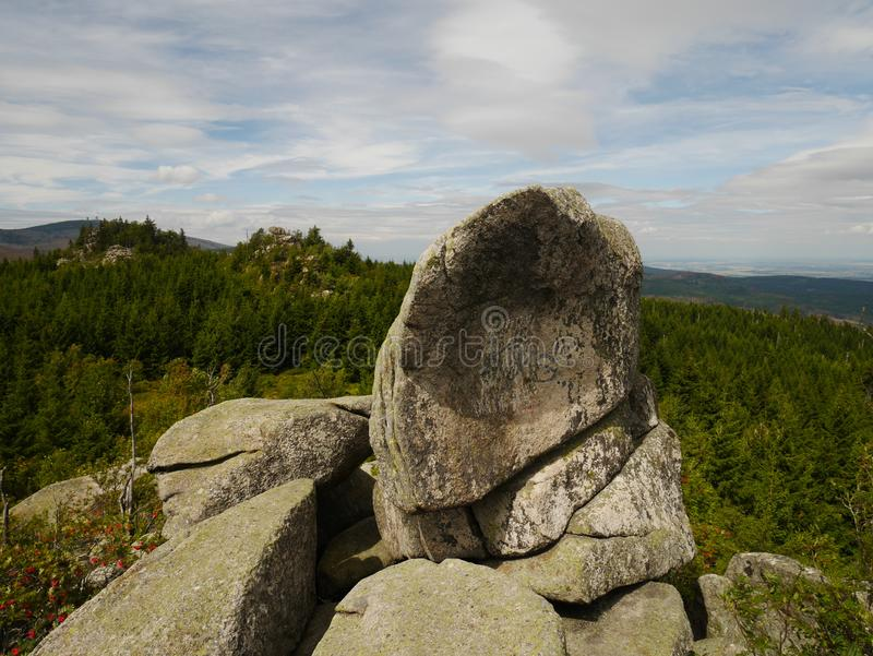 Granite Outcrop in Harz Germany royalty free stock images